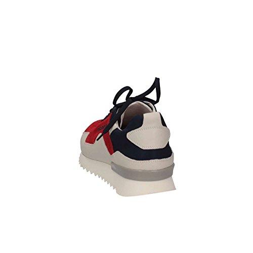 Cesare P. Di Paciotti ZF01 ZEFIRO CAMOSCIO Sneakers Uomo Blu/Rosso