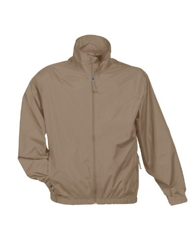 Tri Mountain Men's Lightweight Water Resistant Jacket, Khaki, X-Large - Mens Khaki Windbreaker
