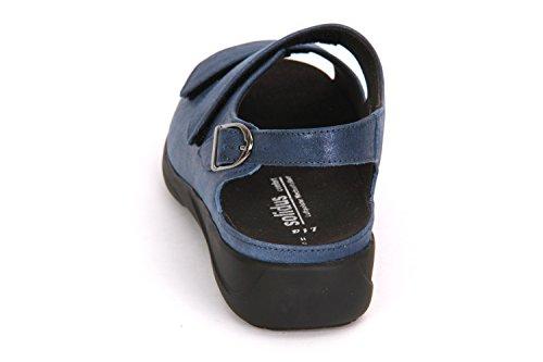 Solidus Lia 038 73038 80302 Damen Sandale Komfort Blau
