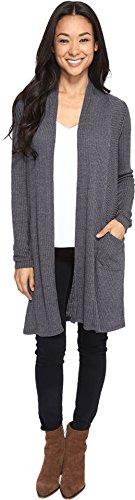 Brigitte Bailey Women's Jann Ribbed Cardigan with Pockets Grey Sweater