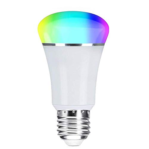 Smart WiFi Bulb,Weton Smart LED Bulb Multicolored Light Bulbs Work with Amazon Alexa Google Home, No Hub Required,Remote Control via Free App for Android & all Smartphones,Dimmable Light Sunrise Light