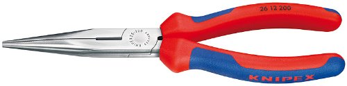 Knipex 2612200SBA Long Nose Pliers with Cutter with Comfort Grip, 8 Inch by KNIPEX Tools