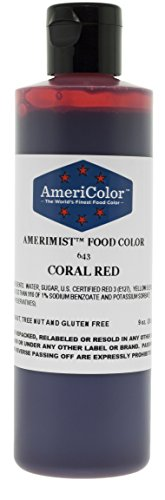 AmeriColor AmeriMist Coral Red Airbrush Food Color, 9 oz