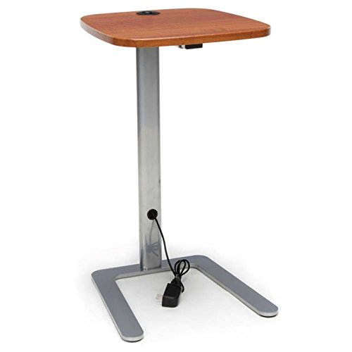 OFM ACCTAB Accent Table with USB Grommet, Cherry