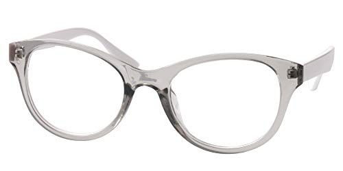7028c66ec9c SOOLALA Lovely Hit Color Oversized Clear Lens Eye Glasses Frame Wide  Reading Glasses