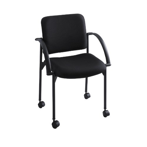 Safco Products 4184BL Moto Stack Chair, Black