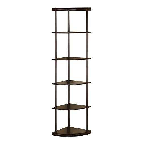 Coaster Home Furnishings 800279 Casual Bookcase, (Corner Curio)