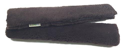 Dr. Sheepskin - Natural Sheepskin Seat Belt Strap Covers (Shoulder Straps) (2pcs - Brown)