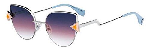 New Fendi RAINBOW FF 0242/S TJV/FF silver orange/violet shaded Sunglasses