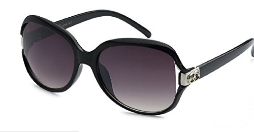 versized Designer Eyewear - Celebrity Inspired High Fashion Sunglasses - Black ()