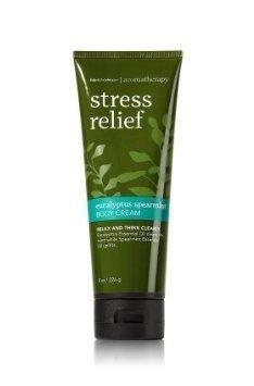 Eucalyptus Aroma - Bath & Body Works Aromatherapy Stress Relief Eucalyptus Spearmint Body Cream 8 Ounce