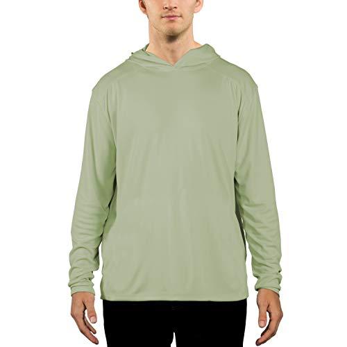 Vapor Apparel Men's UPF 50+ UV Sun Protection Performance Long Sleeve Hoody Small Sage