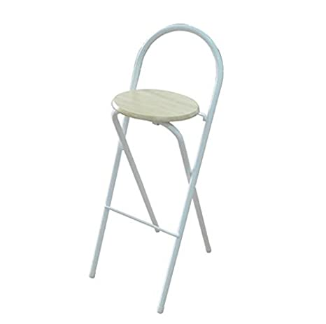 Sensational Amazon Com High Stool Bar Stool Home Folding Backrest Chair Ibusinesslaw Wood Chair Design Ideas Ibusinesslaworg