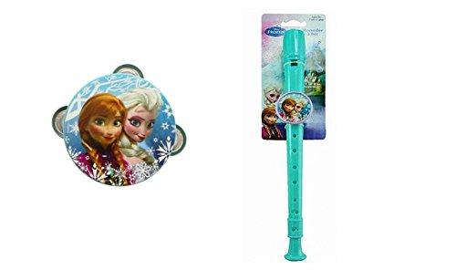 Disney Frozen Small Tambourine and Flute Recorder Set