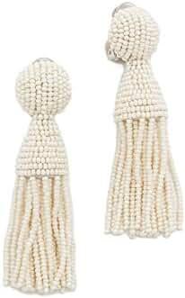 Oscar de la Renta Womens Classic Short Tassel C Earrings