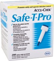 Accu-Chek Safe-T-Pro Lancets 23G, 200/Box -  Roche, UHS-59951