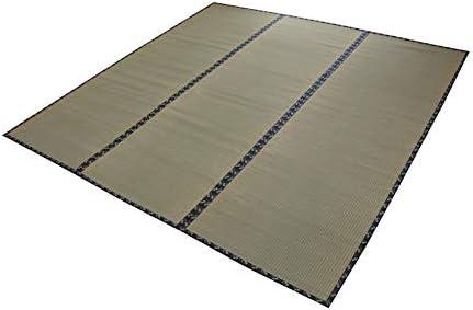 イケヒコ い草 ラグ 立山 団地間6畳 約255×340cm 日本製 上敷き カーペット 糸引織 ヒバ加工 #6302416