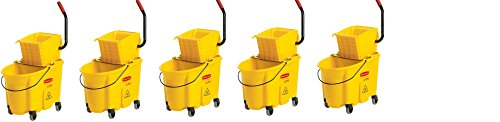 Rubbermaid Commercial FG758088YEL WaveBreak Side Press Combo (5,,Buckets) by Rubbermaid Commercial Products