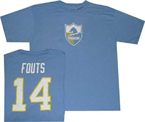 San Diego Chargers Dan Fouts Reebok Throwback Pro Style T Shirt (Medium) ()
