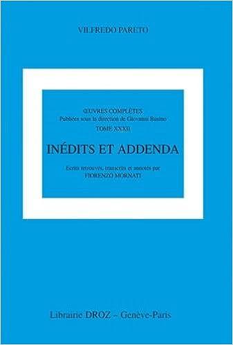 Oeuvres complêtes 32 : inédits et addenda pdf, epub