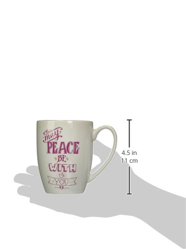 Angelstar 74214 May Peace be with You Rachel Anne Stoneware Mug 15 oz Multicolor