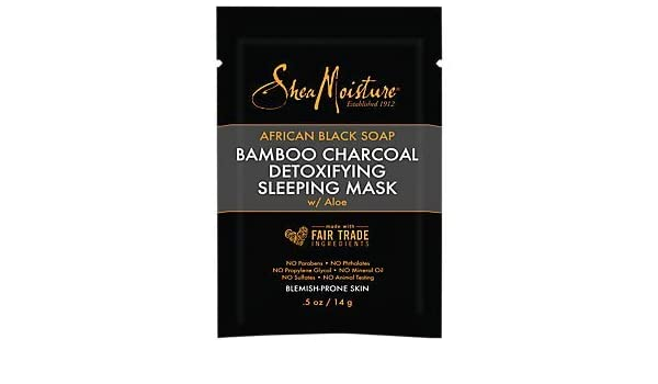 African Black Soap & Bamboo Charcoal Detoxifying Sleep Mask by SheaMoisture #22