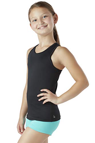 Liakada Girls Basic Tank Top - Dance, Gym, Yoga, Cheer! Black Child Dance Tank Top
