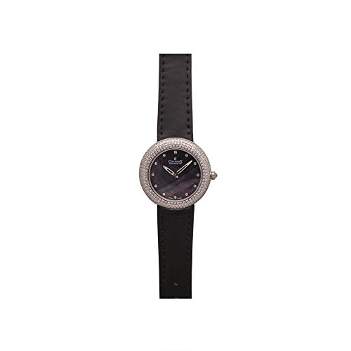 Charmex Las Vegas 6307 35mm Stainless Steel Case Black Calfskin Synthetic Sapphire Women's Watch