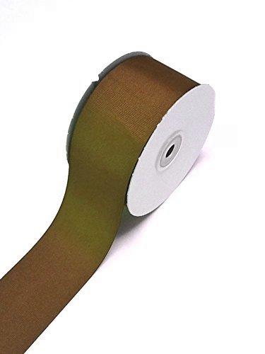 Ben Collection 2 Inch X 50 Yard Grosgrain Plain Ribbon Party, Wedding Favor Crafting Ribbon (Brown) ()