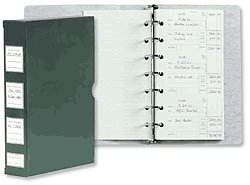 ABC Business Check Stub Binder Holder, 3-On-A-Page, Holds 1200-1500 Stubs, Green Abc Check Printing