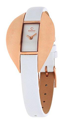 Obaku Denmark Women's Quartz Watch V155LVIRW with Leather Strap (Online-shop Dänemark)