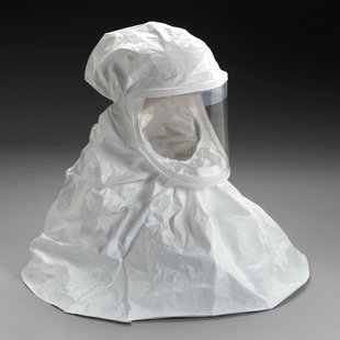3M White Respirator Hood, Respiratory Protection BE-10-20, Regular (Case of 20)
