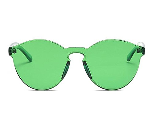 sol de integrados redondas clásica Verde moda la polarizadas Gafas UV400 de no vidrios SRSfTq