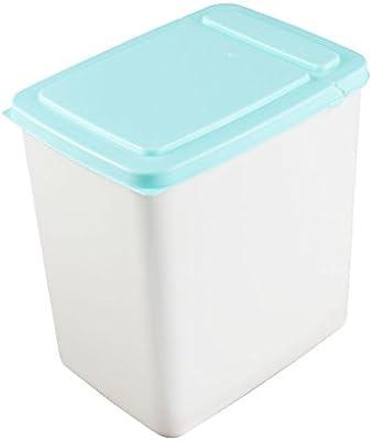 Cuboide plástico en forma hermética Inicio Alimentos caja de almacenaje de contenedores 2L Azul: Amazon.es: Oficina y papelería