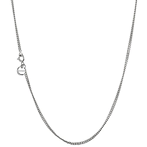 Platinum Bead Chain - ATHENAIE 925 Sterling Silver Plated Platinum Durable Necklace Chain for Pendant Charms