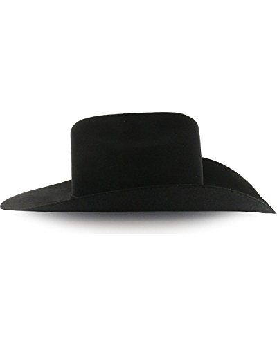 Rodeo King Men's Low 7X Felt Cowboy Hat Black 7 3/8 by RODEO KING (Image #2)