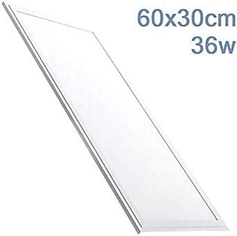 Led Atomant Panel LED 60x30 cm, 36W. Color Blanco Frio (6500K). 2800 lumenes. Driver incluido. A+, 36 W