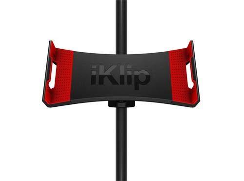 IK Multimedia iKlip 3 Deluxe | Support de pied de micro universel et support de trépied pour appareil photo pour iPad et tablettes
