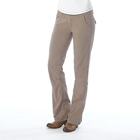 prAna Women's Halle Regular Inseam Pant, Dark Khaki, 8 (Womens Adventure Pants)