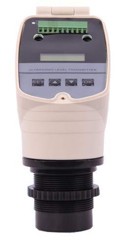 Hanchen Ultrasonic Level Transmitter, Ultrasonic Water Level Meter Gauge 1~20M Liquid Level Flow Sensor, One Year Warranty (1m)