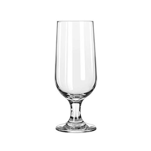 Libbey Embassy Footed Drink Glasses, Beer Glass, 12Oz, 7 1/8
