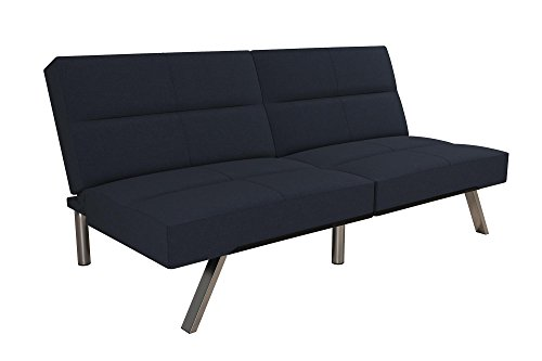 DHP Studio Convertible Futon Couch, Blue (Contemporary Convertible Sofas)