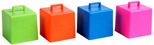 Cube Weight 65 g Balloon Weight Neon Asst (10 Piece)
