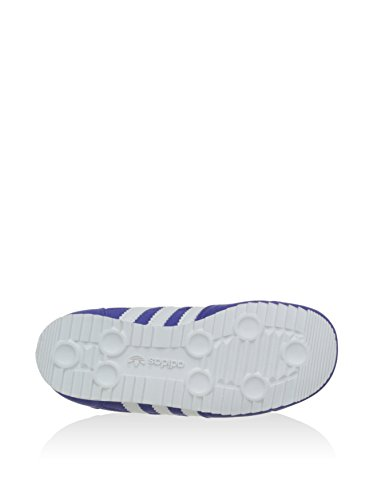 Adidas Kinderschuhe Dragon CF I Unisex night flash-running white-solar blue (M17094), 21, lila