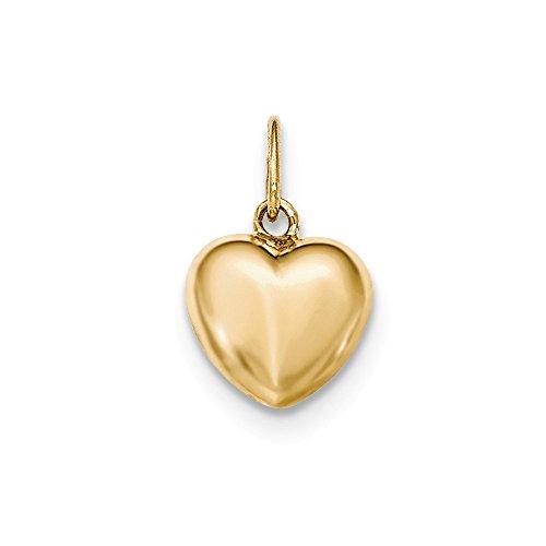 14k Polished Puffed Heart Pendant