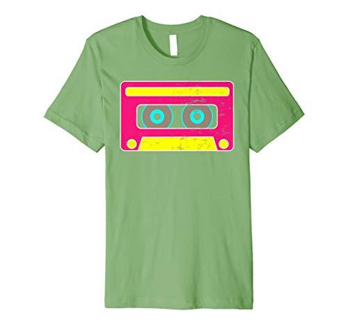 Neon Cassette Tape 1980s Pop Mix Tape Halloween Hugs T Shirt]()