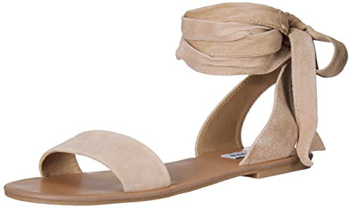 - Steve Madden Women's Reputation Sandal, Taupe Suede, 8.5 M US