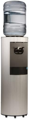 Celsius Water Cooler – Sandblasted Fluted Brushed Aluminum Cabinet, Room Temperature Cold