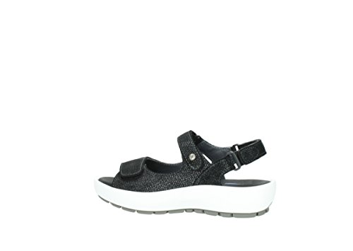 Wolky Anthracite Suede Leather Rio 3325 421 Womens Sandals YrqP7YT