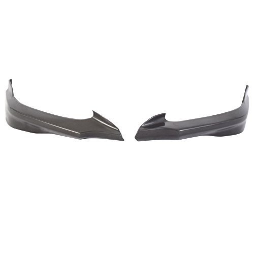 Front Bumper Lip Compatible With 2012-2013 Honda Civic | HF-P Style Black PU Front Lip Finisher Under Chin Spoiler Add On by IKON MOTORSPORTS (2013 Honda Civic Si Coupe Front Lip)
